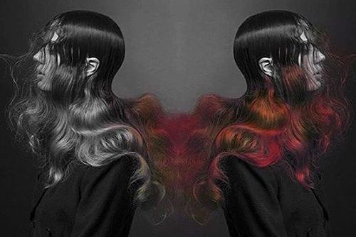 温度によって色が変わるヘアカラー「FIRE」