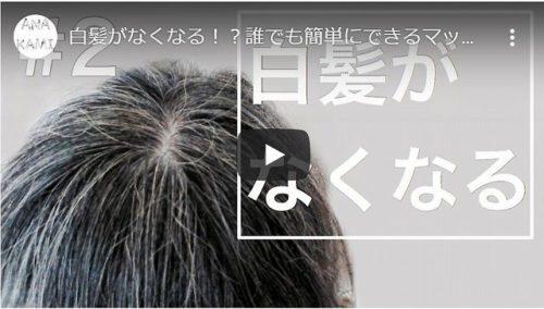 白髪がなくなる!?誰でも簡単にできるマッサージ法!血流を良くして白髪を防ぐ!