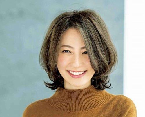 薄毛(老け髪)の女性におすすめのおしゃれな髪型ハイライトカラー